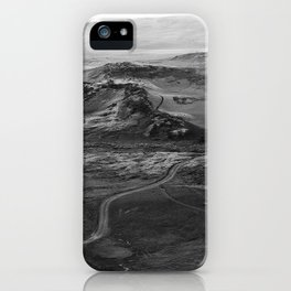Iceland Black and White Photography iPhone Case