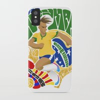 neymar iPhone & iPod Cases featuring Neymar by Simon Estrada