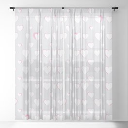 Made for you my heart 34 Sheer Curtain
