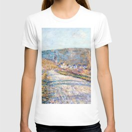 1879-Claude Monet-The Road to Vétheuil-23 x 28 T-shirt