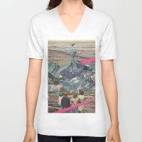 rocks V-neck T-shirts featuring Rocks by Sarah Eisenlohr