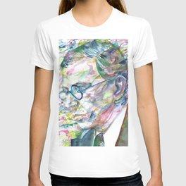 SARTRE - watercolor portrait.3 T-shirt
