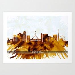 Canberra Australia Skyline Art Print