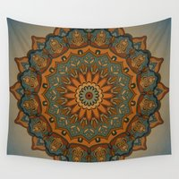 islam Wall Tapestries featuring Moroccan sun by Awispa