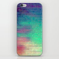 pixel art iPhone & iPod Skins featuring piXel by 2sweet4words Designs