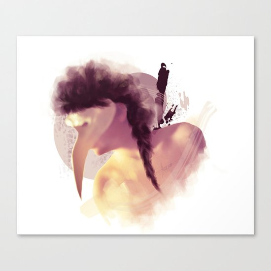 her true face  Canvas Print