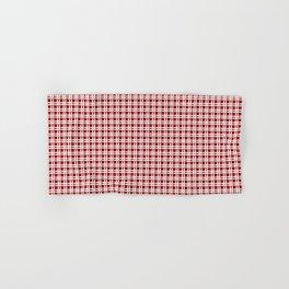 Red Tartan Christmas Pattern Hand & Bath Towel