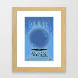 Raiders of the Lost Ark Movie Poster Framed Art Print