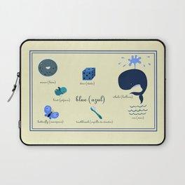 Colors: blue (Los colores: azul) Laptop Sleeve