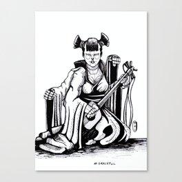 Inktober: Graceful Canvas Print