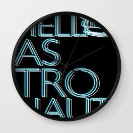Hello, Astronaut Wall Clock