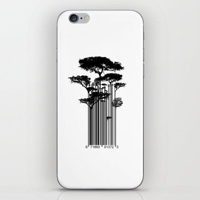 Barcode Trees illustration  iPhone Skin