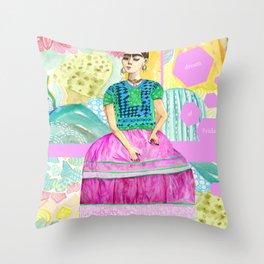 a dream of Frida Throw Pillow