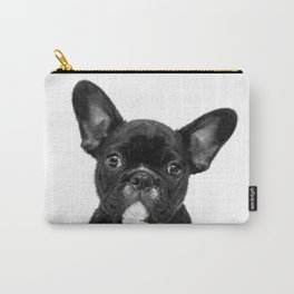 Black and White French Bulldog Carry-All Pouch