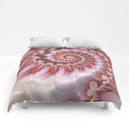 Candy Cane Fiesta - Fractal Art Comforters