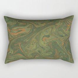 Marbled Green paper Rectangular Pillow