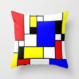 Mondrian Style Throw Pillow