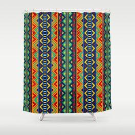 African tribal geometric pattern Shower Curtain