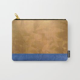 Copper Metallic With Tuscan Blue Stripe Trim - Corbin Henry Carry-All Pouch