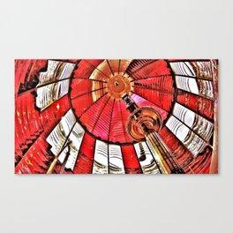 Umpqua River Lighthouse in Oregon's Fresnel (red) Lens Canvas Print