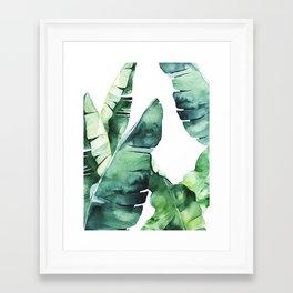 Tropical Banana Leaves Framed Art Print
