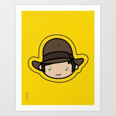 Indiana Jones Kawaii Art Print
