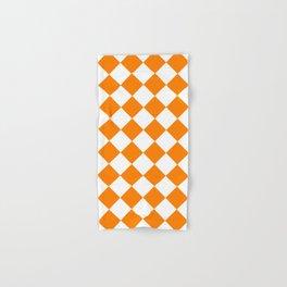Large Diamonds - White and Orange Hand & Bath Towel