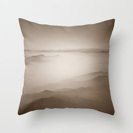 Sky View (Sepia) Throw Pillow