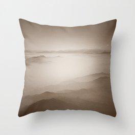 Sky View (Sepia) Throw Pillow