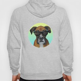 Hipster Boxer dog Hoody