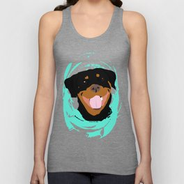 Rottweiler graphic on Mint Unisex Tank Top