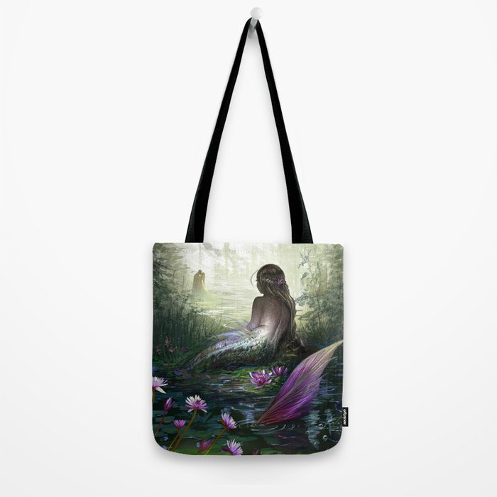 Little mermaid - Lonley siren watching kissing couple Tote Bag