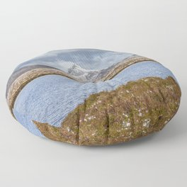Snow Covered Hills Floor Pillow