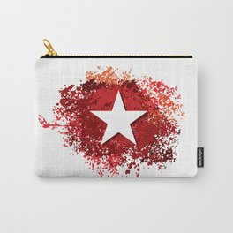 abstract grunge painted background and star Carry-All Pouch