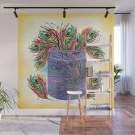 Feathers Wall Mural