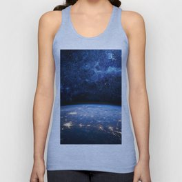 Earth and Galaxy Unisex Tank Top