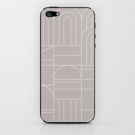 Deco Geometric 04 Grey iPhone Skin