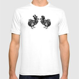 Mr and Mrs Dodo   Black and White T-shirt