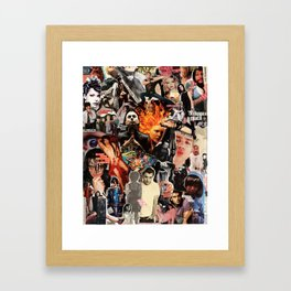 So many scruffy, guitar-wielding boys, so little. time. Framed Art Print