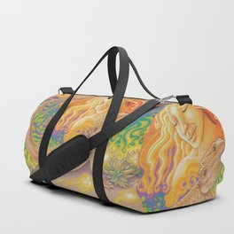 Sun And Dragon, Bearded Dragon Art Duffle Bag