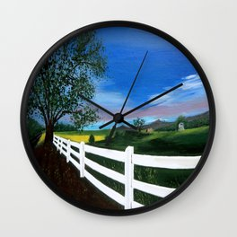 Early sunset Wall Clock