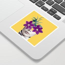 Floral Portrait 2 Sticker