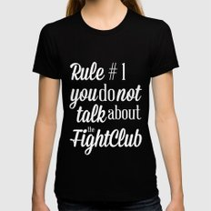 Fight Club SMALL Black Womens Fitted Tee