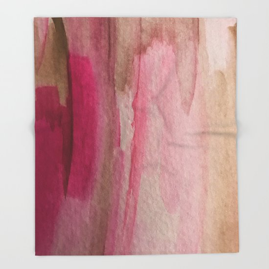 Blush: a pretty and gentle watercolor piece in pinks and browns by blushingbrushstudio