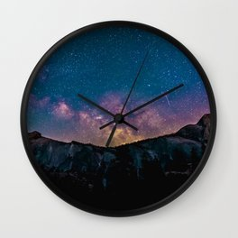 Mountain Stars Wall Clock