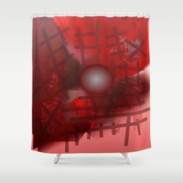 Rope and planet Shower Curtain