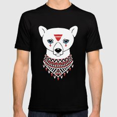 Tribal Bear MEDIUM Black Mens Fitted Tee