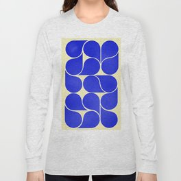 Blue mid-century shapes no8 Long Sleeve T-shirt