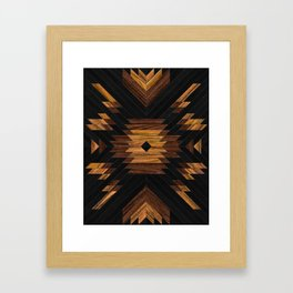 Urban Tribal Pattern 7 - Aztec - Wood Framed Art Print