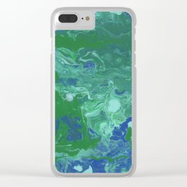 Paint Pouring 41 Clear iPhone Case